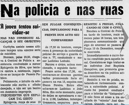 Suicídio e vexame em Curitiba