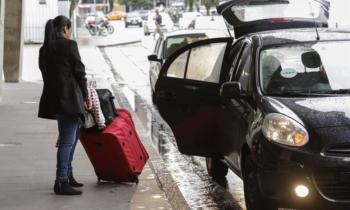 Veículos da Uber na Rodoviária. Foto: Luiz Costa /SMCS