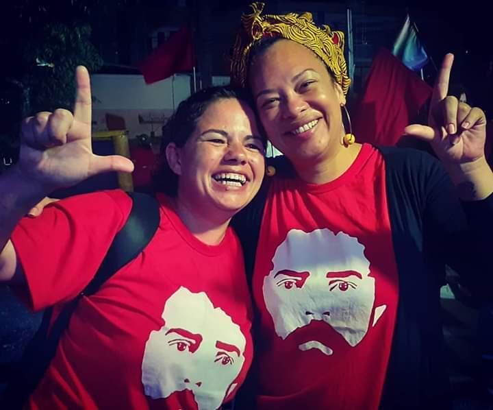 No dia da libertação de Lula. Foto: arquivo pessoal